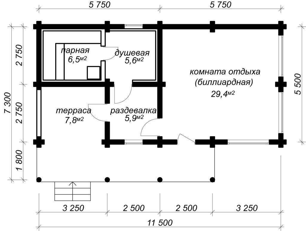 План бани Подмосковье