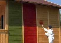 Дома из бруса: красить или нет?