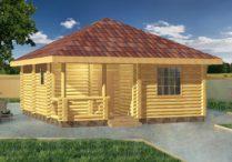 Деревянный дом Мансур